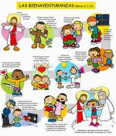 """Las Bienaventuranzas   Mateo 5, 2-12     """"Jesús comenzó a enseñarles, diciendo:   Felices los que tienen alma de pobres, porque a ell..."""