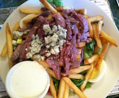 Guy Fieri's Triple D restaurant visit. The Metro Diner in Jacksonville, FL. Pittsburgh Steak Salad