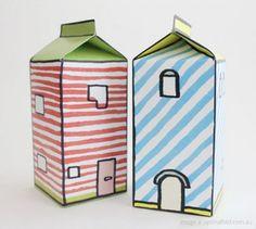 Doodle Milk Boxes