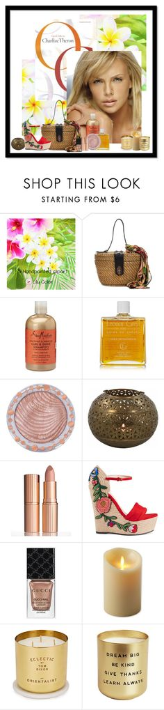 """""""tropical beauty"""" by trendy777 on Polyvore featuring Belleza, Patricia Nash, SheaMoisture, Leonor Greyl, Charlotte Russe, Charlotte Tilbury, Gucci, Luminara y Tom Dixon"""