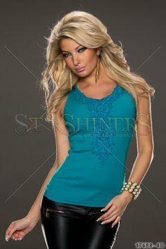 Top Fancy Escape Turquoise