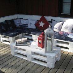 Palle møbler - lounge - terrasse - gør det selv - DIY - outdoor