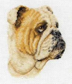 Bulldog Mini Counted Cross Stitch $17.43 #craft #supplies