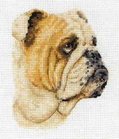 Bulldog Mini Counted Cross Stitch $17.43 #craft #supplies