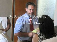 Scott Hahn, former presbyterian turned Catholic convert & theologian.  Famous audio of Dr. Hahn relating his conversion story.