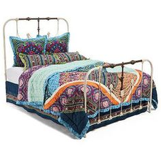 Collection featuring Karma Living Ottomans, Missoni Home Ottomans, and 77 other items Bohemian Theme, Bohemian Bedding, Boho Boutique, Big Girl Rooms, Girls Bedroom, Bedroom Ideas, Bed Furniture, New Room, Bedding Decor