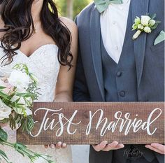 Just Married Sign Rustic Wedding Signs Photo Prop Sign