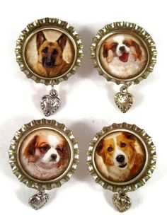 Dog Bottle Cap Magnets