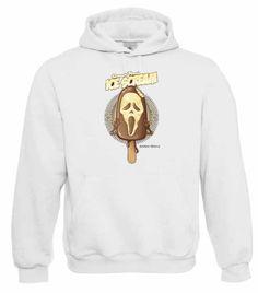 "Kapuzen Sweatshirt ""Ice Scream"" Fruit of the Loom, Beuteltasche, 80% Baumwolle"