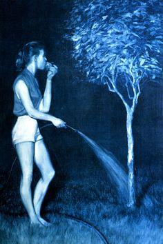 melaniejaneparker:    Mark Tansey, Four Forbidden Senses, 1982