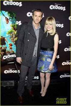 Emma Stone and Proenza Schouler Spring 2013 Sleeveless Combo Dress