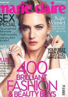 Diễn viên Kate Winslet của bộ phim bom tấn Titanic trên bìa tạp chí Marie Claire UK cùng khuyên tai Eden của nhà thiết kế Messika.
