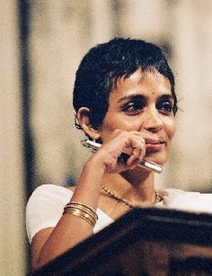 Arundhati Roy: An Indian Novelist who made the headlines around the world when she became a first Indian woman to win the 'Man Booker Prize' in 1997 for her novel-'The God of Small Things'.