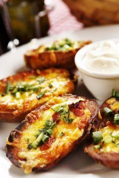 Pesto Shallot Bruschetta - Click for Recipe