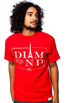 The Paris Tee in Red by Diamond Supply Co.