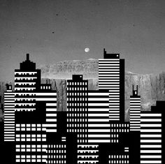 Skyline. Graphic overlay. Photography. Black/White.