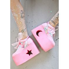 124ea6de2a4f Y.R.U. X Dolls Kill Little Twin Stars Qozmo Lo Platforms ( 145) ❤ liked on