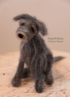 Needle felt Irish Wolfhound dog HeartFelties