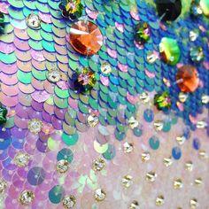 Sunday sea dream... Fish scales close-up #embroidery #design #costume…
