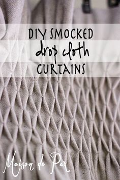 Maison de Pax: DIY Smocked Curtains