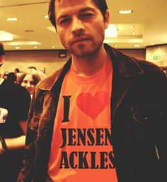 So cute! I ship Destiel although I don't ship Misha&Jensen BECAUSE THEY ARE NOT THEIR CHARACTERS!