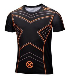 Marvel Captain America Super Hero compression Civil War Tee 3D Printed T-shirts Men fitness