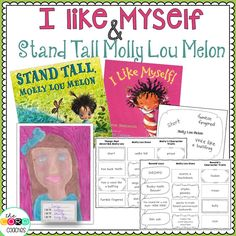 Lesson plans, text dependent questions, graphic organizers, and craft instructions for Stand Tall Molly Lou Melon and I Like Myself. Reading Activities, Teaching Reading, Fun Learning, Preschool Activities, Teaching Character Traits, Character Education, I Like Myself Book, Interactive Read Aloud, Atelier