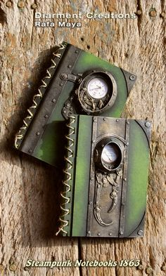 Steampunk Notebooks 1863 by Diarment.deviantart.com on @deviantART