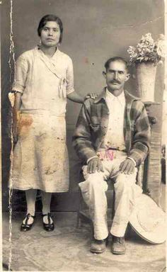 Benita Campos Cerda y Francisco Campos Báez, en Guadalajara, probablemente en los treinta.