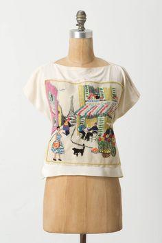 parisian cafe blouse