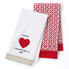 "Valentine's Day ""Happy Valentine's Day"" 2-pk. Kitchen Towels"