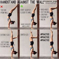 #Repost @roxanne_yoga ・・・ Handstand against the wall The wall is a great friend in helping you deal with the fear of falling, then it becomes a great support in helping you work on your awareness and alignment. Similar to my previous tutorial on using the wall for pinchamayurasa, this is how I use the wall to work on my handstand, building the strength and confidence to stay on my hands. #foxyroxyyoga #practiceandalliscoming