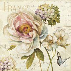 Marche de Fleurs III Art Print by Lisa Audit at Art.com //  Encontrado en art.com