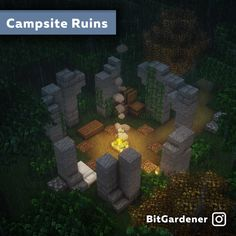 Worn-down points of interest can give travelers a comfy place to rest - DetailCraft Video Minecraft, Minecraft Farm, Minecraft Mansion, Minecraft Plans, Minecraft Construction, Amazing Minecraft, Minecraft Tutorial, Minecraft Blueprints, Minecraft Crafts