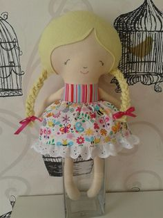 Summer dolly, made from dolls and daydreams pattern for sale on www.facebook.com/nelliebabs xx