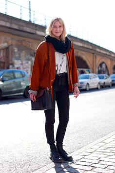 This girl is cute - I could perhaps do these things, aside from the oversized orange jacket which never works for me.