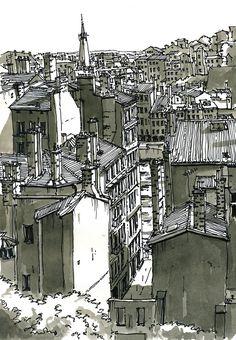 Quai de Saône depuis la place Rouville, Lyon - France. Bruno Molliere