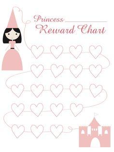 Princess Reward Chart {free printable}