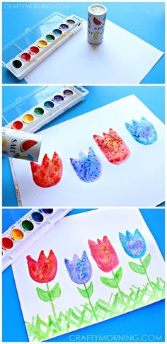 Salt Art for Kids: Spring Tulips Craft   CraftyMorning.com