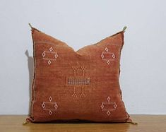 beautiful Moroccan handmade cactus silk pillow, decorative throw Pillow covers, Home Décor, CSP130