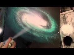 how to spray paint a spiral galaxy and underwater scene and more june 2015 spray paint art secrets - YouTube