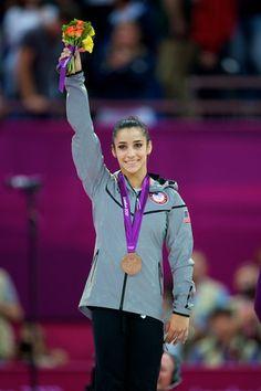 Aly Raisman, balance beam bronze medalist and floor gold medalist!