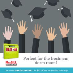 Give your grad something they can really use in their dorm room: The MacGill #FirstAid Kit. http://ow.ly/TxRz300u39P