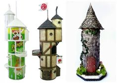 Fairy garden diy - Ten genuinely cool things you can make out of an old tube for potato chips Pringles Dose, Pringles Can, Clay Art Projects, Diy Projects, Diy And Crafts, Crafts For Kids, Fairy Garden Houses, Miniature Fairy Gardens, Potato Chips