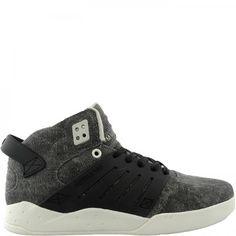 Supra SKYTOP III Mens Shoe Black Distressed Canvas - #Sneakers