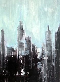 Metropoly. Original abstract painting. Acrylic on by artybit, £20.00