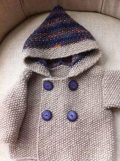 Seed Stitch Baby Jacket pattern by Elinor Brown~~free pattern