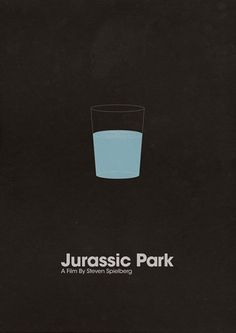 Jurassic Park minimalist poster - seeing this makes you anxious about an approaching TRex