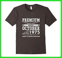 Mens Made in October, 1975 - 42nd Birthday Gift T-shirt Large Asphalt - Birthday shirts (*Amazon Partner-Link)