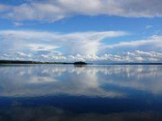 Heaven mirrors lake!
